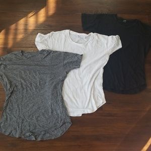 3 madewell whisper cotton tees, small